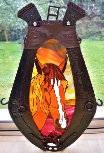 Tiffany horse head lamp in a vintage necklace