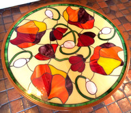 Table in Tiffany stained glass