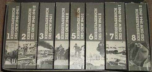 Kriegstagebücher 8 Bände Kollektion