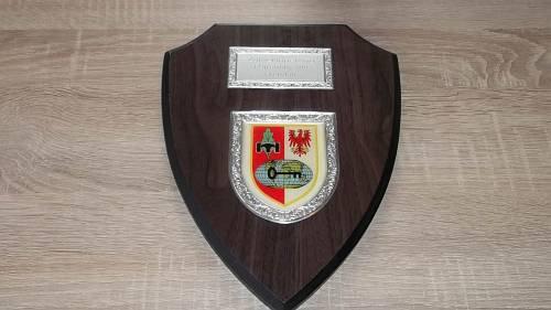 Wappen auf Holz Erinnerungstafel Heer Einzelstück