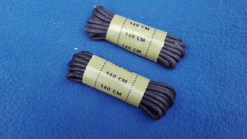 1 Paar Schnürsenkel für BW Stiefel gewachst