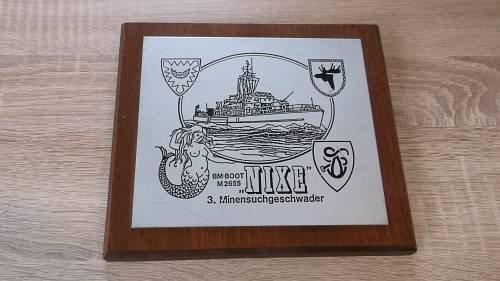 Wappen auf Holz Erinnerungstafel Marine Einzelstück
