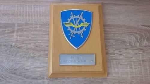 Wappen auf Holz Erinnerungstafel Luftwaffe Einzelstück