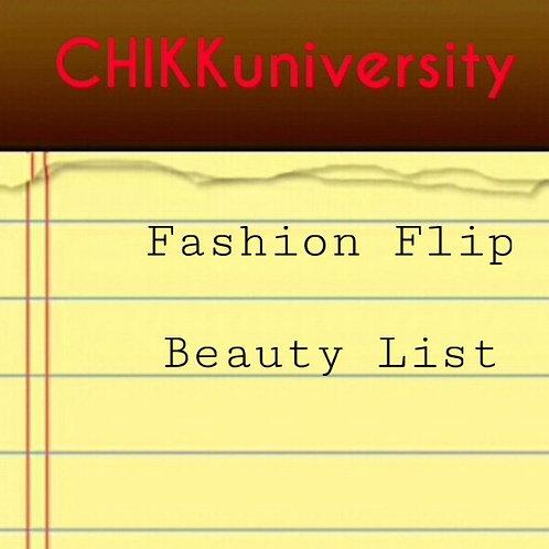 Fashion Flip Beauty List