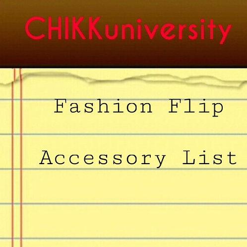 Fashion Flip Accessory List