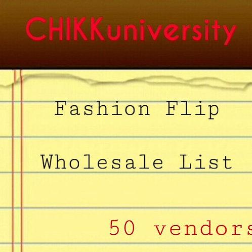 Fashion Flip Wholesale list 50