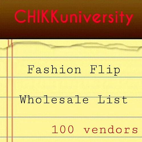 Fashion Flip wholesale list 100