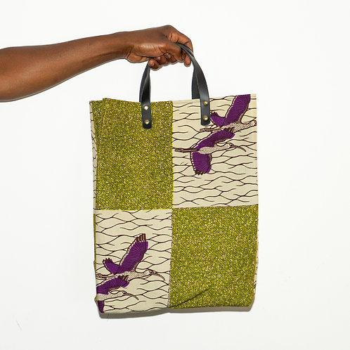 SAMBA, Shoppingbag mit Ledergriffen