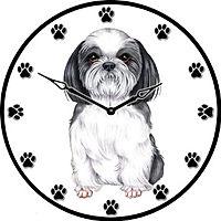 Dog in clock face clip art