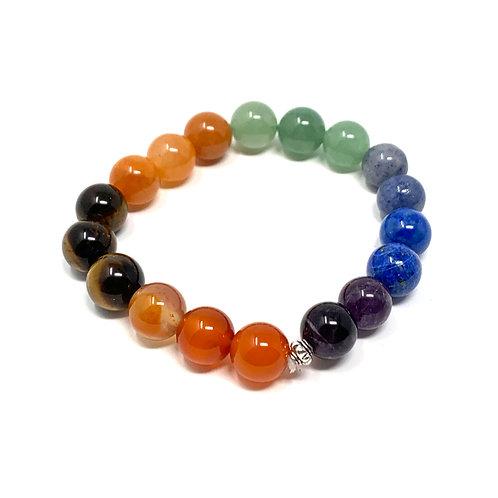 10 mm Round Chakra Elastic Bracelets