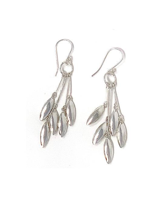 Sterling Silver Multi Dangling Earrings.