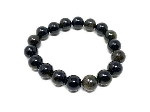 10 mm Round Golden Obsidian Stretch Bracelet
