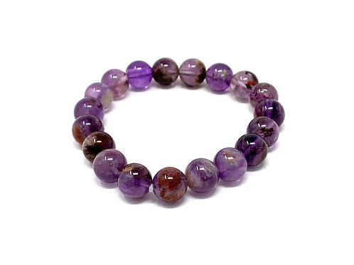 10 mm Round Super 7 Phantom Amethyst Bracelets