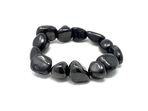 15-20 mm Shungite Nuggets Elastic Bracelets