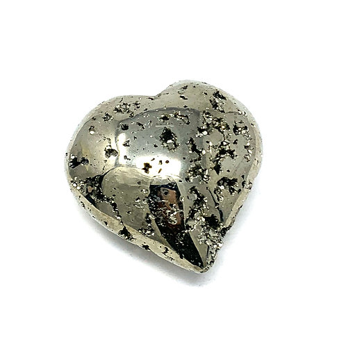 Natural Pyrite Heart 60 mm X 60 MM
