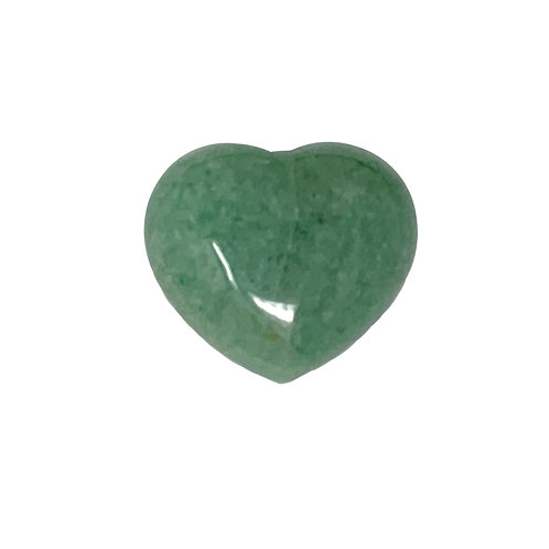 45 MM Green Aventurine Puffy Heart