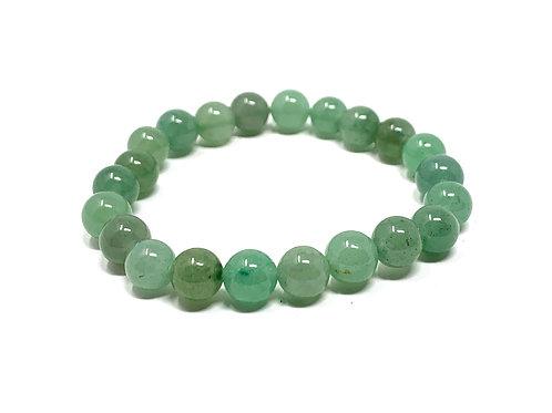 8 mm Round Green Aventurine Stretch Bracelet