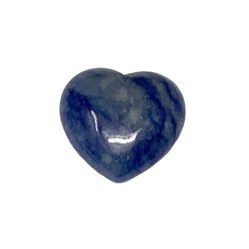 45 MM Brazil Blue Quartz Puffy Heart
