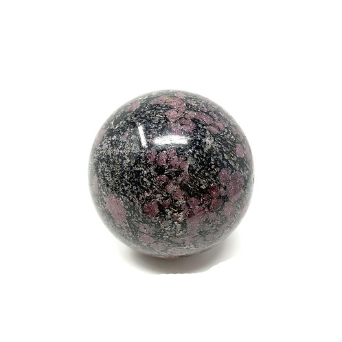Natural Ruby & Spenil Spheres 56 MM