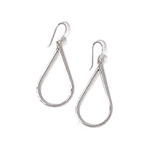 Sterling Silver Pear Shape Dangling Earrings.