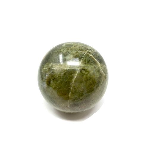 Natural Vesonite (Green Garnet) Spheres 60 MM