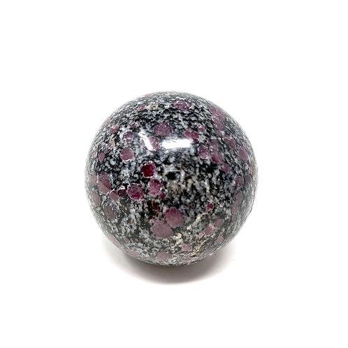Natural Ruby & Spenil Spheres 45 MM