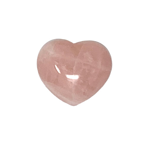 45 MM Rose Quartz Puffy Heart