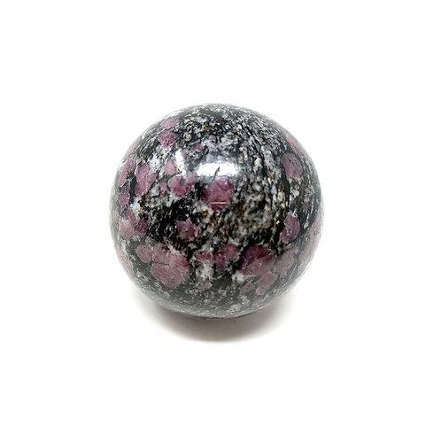 Natural Ruby & Spenil Spheres 55 MM