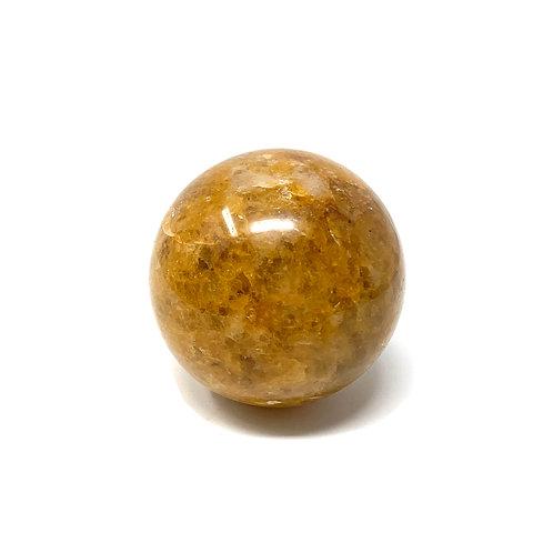 Natural Yellow Quartz (Golden Healer) Spheres 57 MM