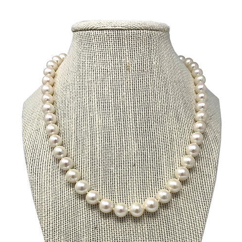 14K White Fresh Water Pearl Necklace