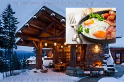 Aspen Client outdoor breakfast