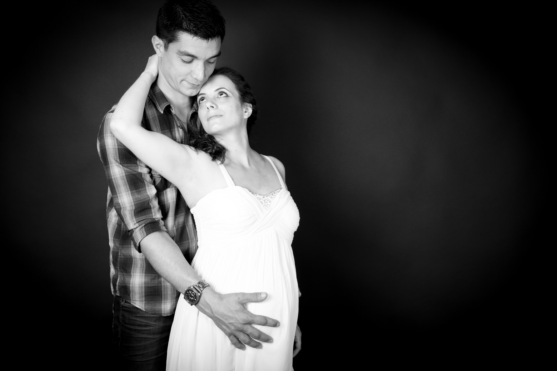 Femme enceinte avec son mari