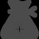 三角型のドル袋のフリーアイコン(円).png