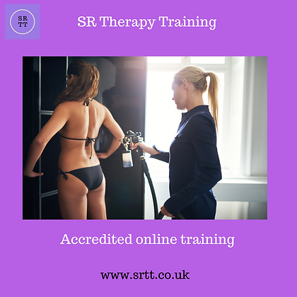SR Therapy Training online spray tan training
