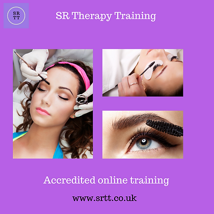 SR Therapy Training online lash & brow tint training