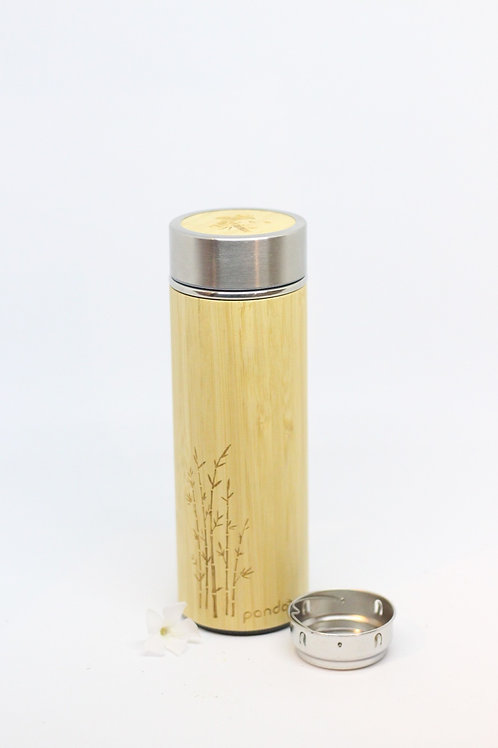 Bambus Thermobecher inklusive Teesieb 360 ml
