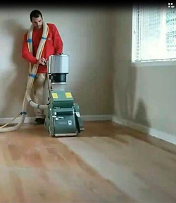 Floor Sanding with Dust Containment