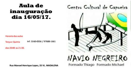 Aulas de capoeira Navio Negreiro no BNH