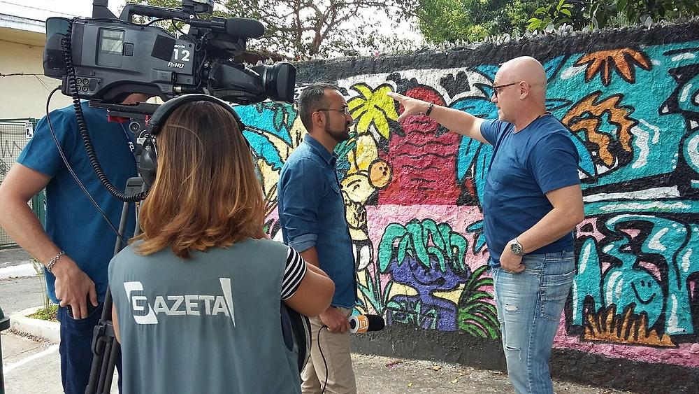Cassio Calazans em entravista à Gazeta TV