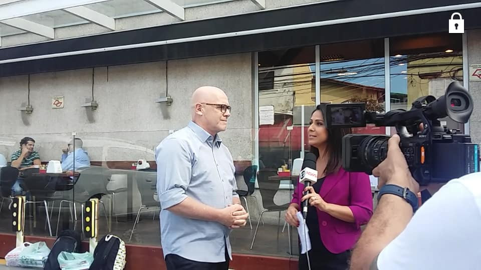 Entrevista para a Globo TV