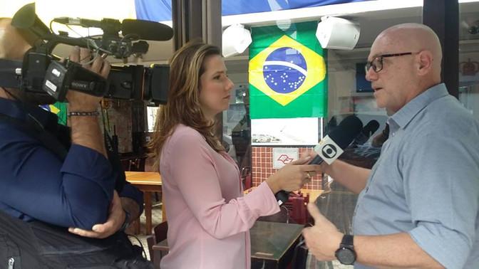 Adriana Perroni - Globo News entrevista Cassio Calazans Matéria Copa do Mundo 2018