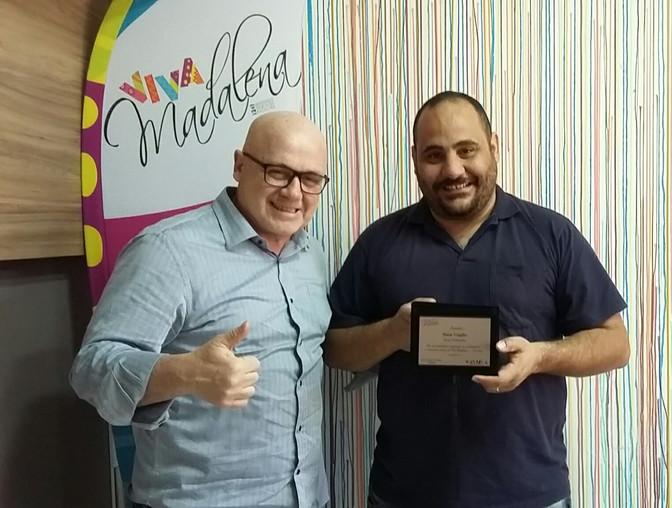 Amigo colaborador da SAVIMA               Homenageado com placas de reconhecimento