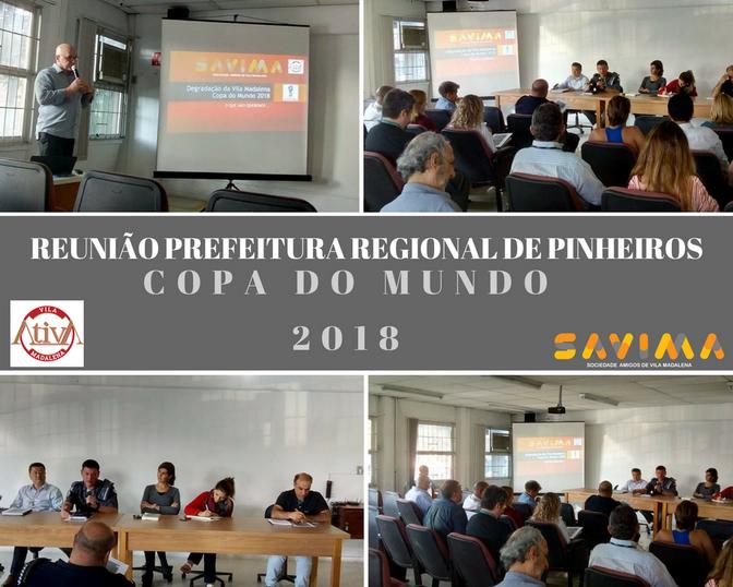 Reunião Vila ATIVA - Copa do Mundo 2018