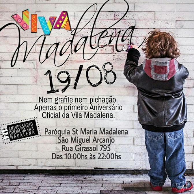 19/08-Aniversário oficial da Vila Madalena