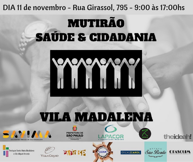 Mutirão Saúde e Cidadania                       11 de novembro 2018