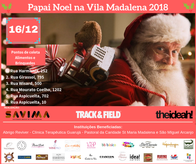 16/12 Papai Noel na Vila Madalena 2018