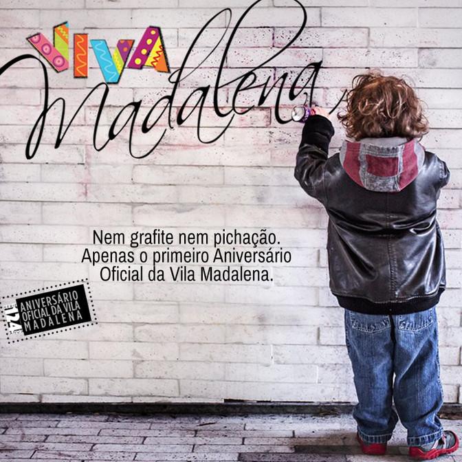 "Aniversário da Vila Madalena ""Viva Madalena"" Dia 19/08/2017"
