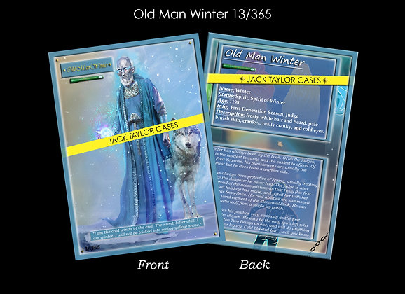Old Man Winter Collector Card