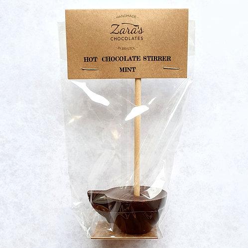 Mint Dark Hot Chocolate Stirrer