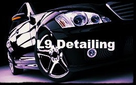 Detail black car with L9 Detailing text in photo